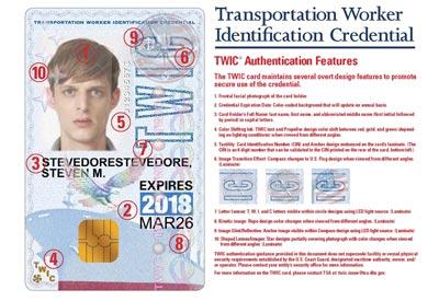 icp twic card identification